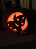 My friend's carved pumpkin.